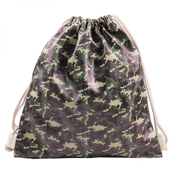 Camo PU Drawstring bag (33 x 35 cm)