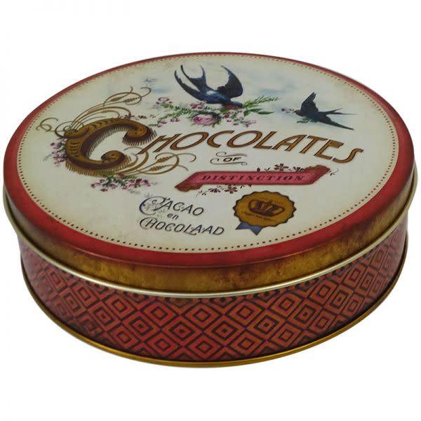 Chocolates of Distinction Round Tin