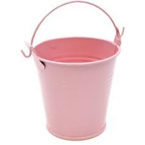 Pink Metal Bucket - Small