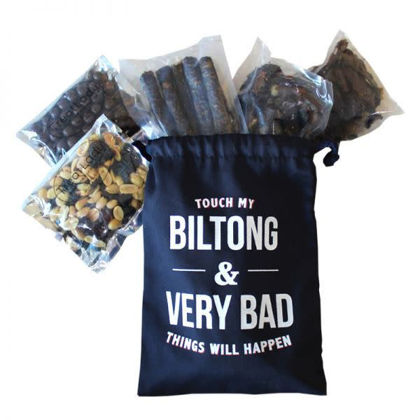 His Biltong Stash