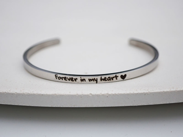 """Forever in my heart"" Bracelet"