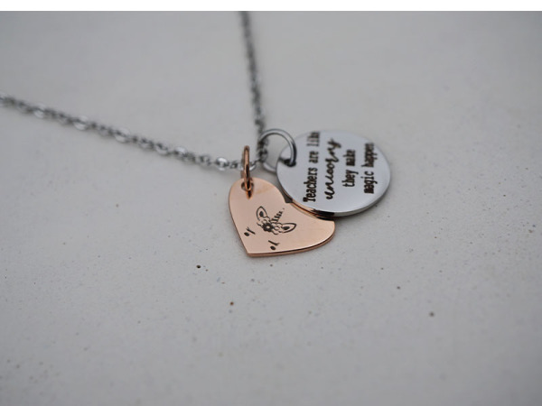 Teachers are like unicorns - Reminders Petite Necklace