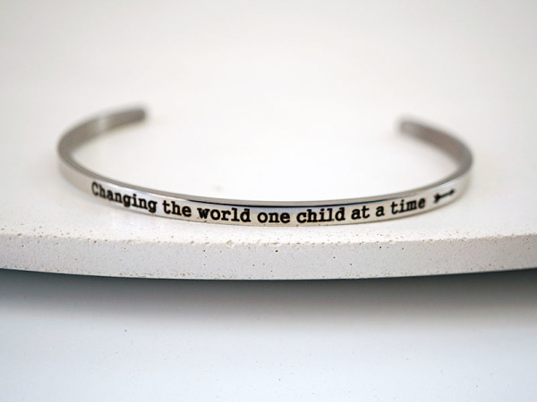"""Changing the world one child at a time"" Samsara Bracelet"