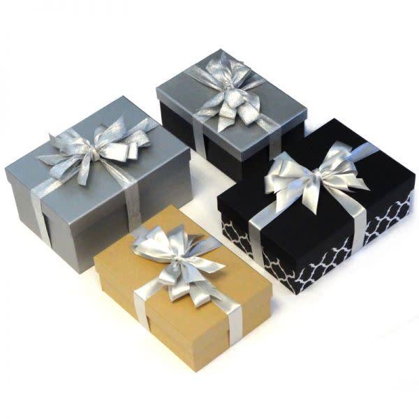 Cardboard Gift Box with satin ribbon and bow