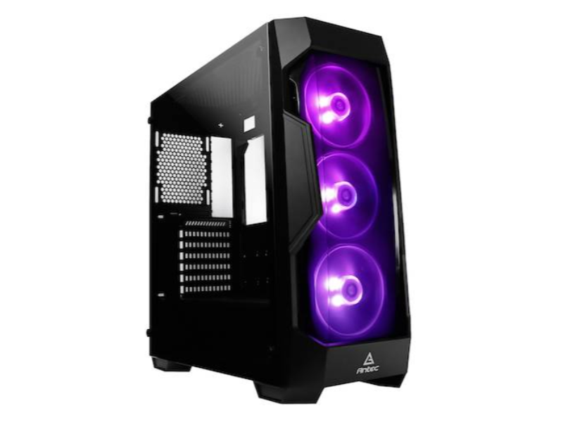 Antec DF500 RGB Tempered Glass Black Mid Tower Desktop Case