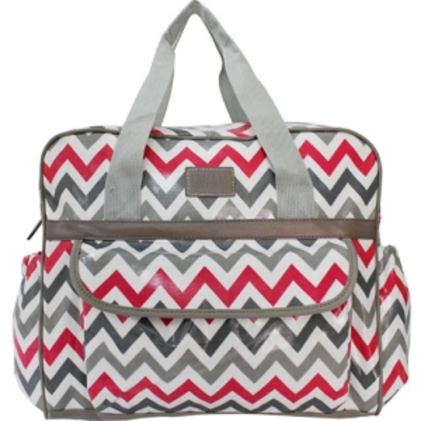 Pink Chevron Baby Bag