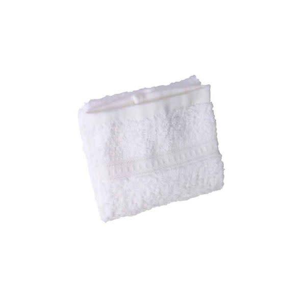 White Hemmed Face Cloth