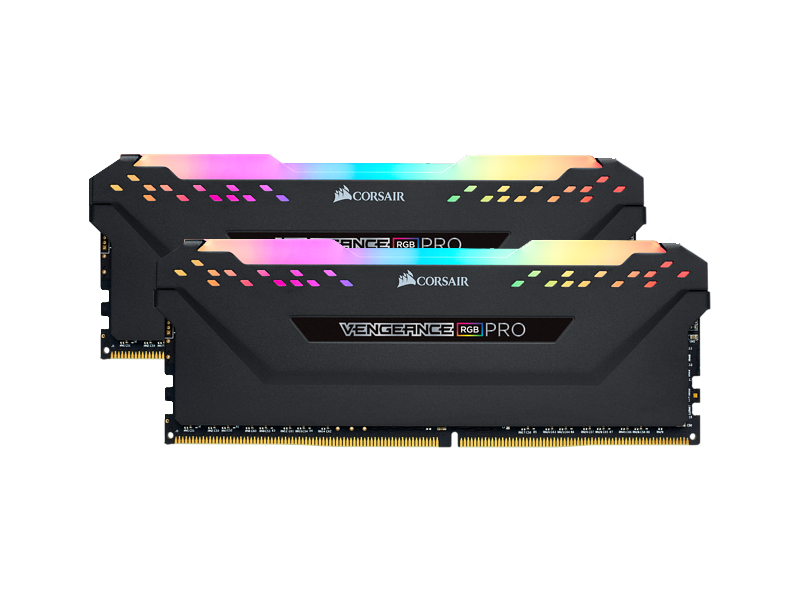 Corsair Vengeance RGB Pro 32GB (2 x 16GB) DDR4-3200MHz CL16 Black Desktop Gaming Memory