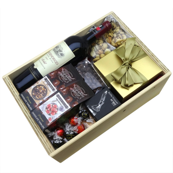 Red Wine and Sweet Treat Box