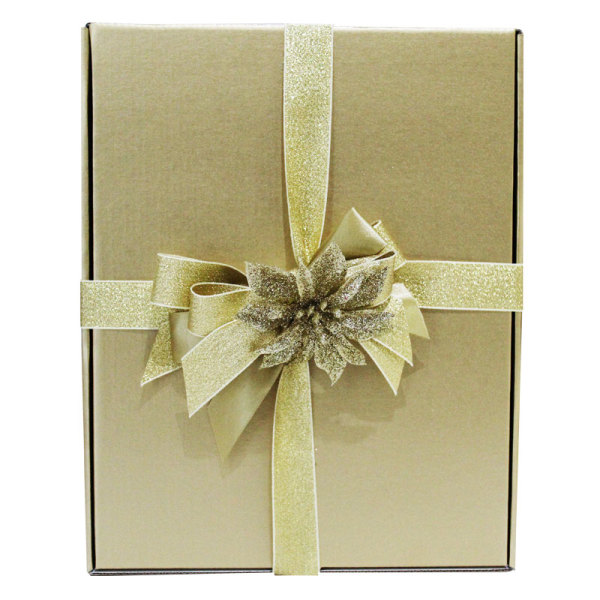 Golden Themed Festive Gift Box