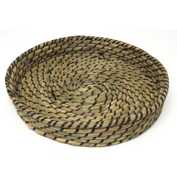 Grass Basket with Black wrapping (44cm) OKA 21