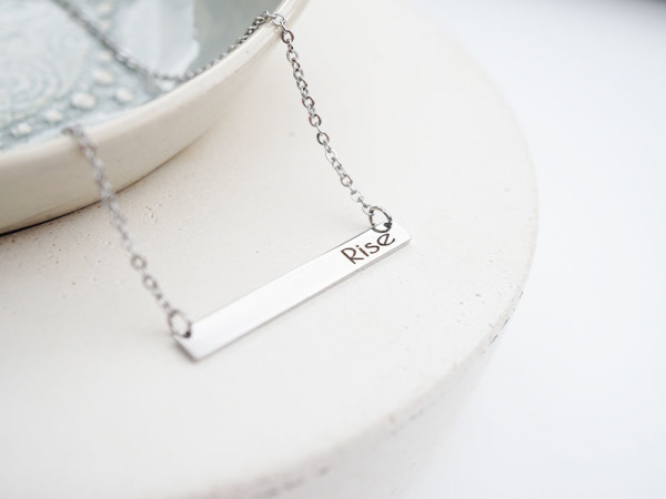 """Rise"" Horizontal Bar Necklace"