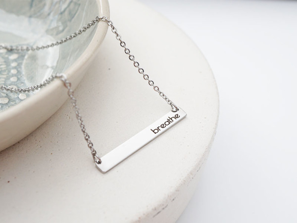 """Breathe"" Horizontal Bar Necklace"