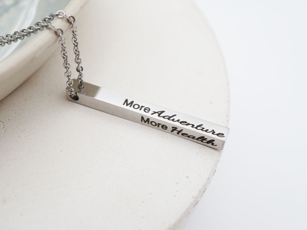 """Made for more"" Vertical Bar Necklace"