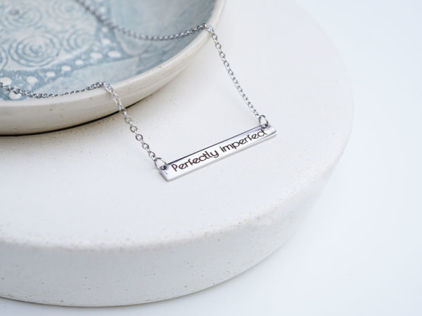 """Perfectly imperfect"" Horizontal Bar Necklace"