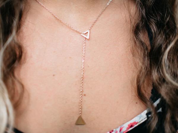 Tora Grace TRI Reminders Necklace- Rose Gold