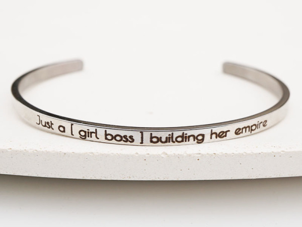"""Just A Girl Boss"" Bracelet"