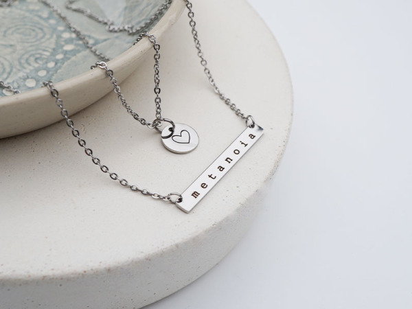 """Metanoia"" Horizontal Bar Necklace"