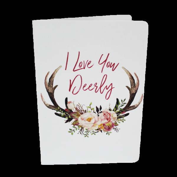 I Love You Deerly - Card