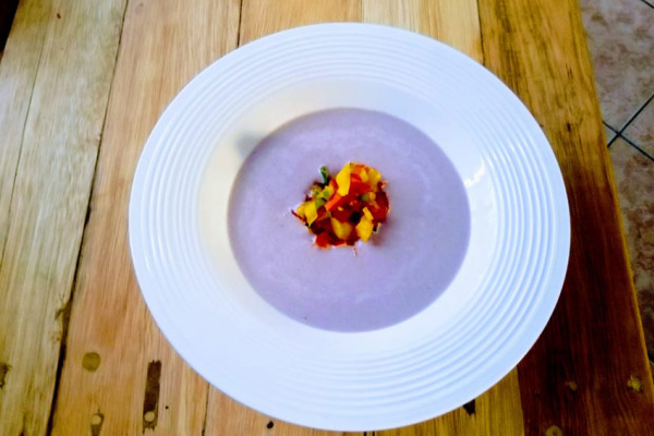 Red cabbage Gazpacho