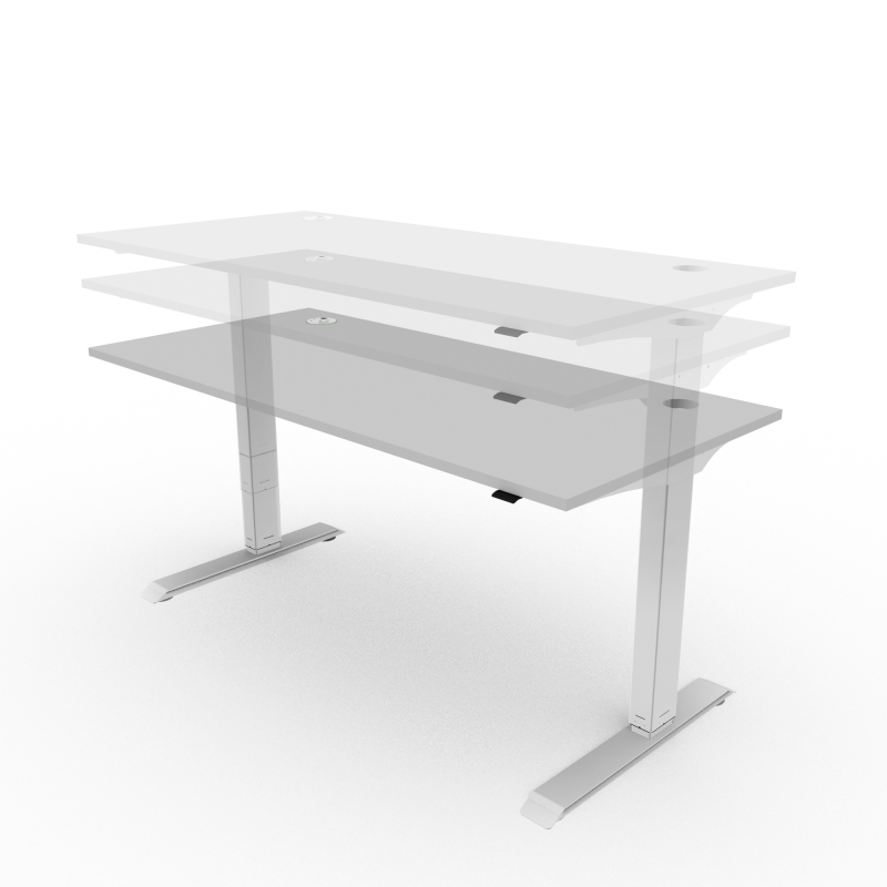 Height Adjustable Single Desk