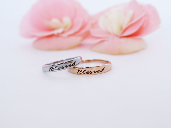 "Stacker Ring - ""Blessed"""