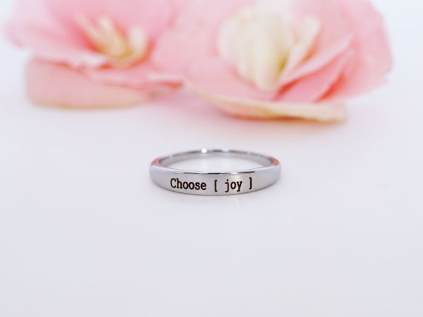 "Stacker Ring - ""Choose Joy"""