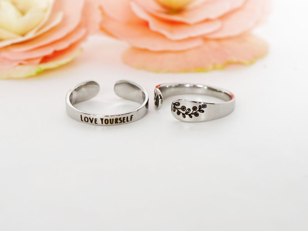 "Cuff Ring - ""Love Yourself"""