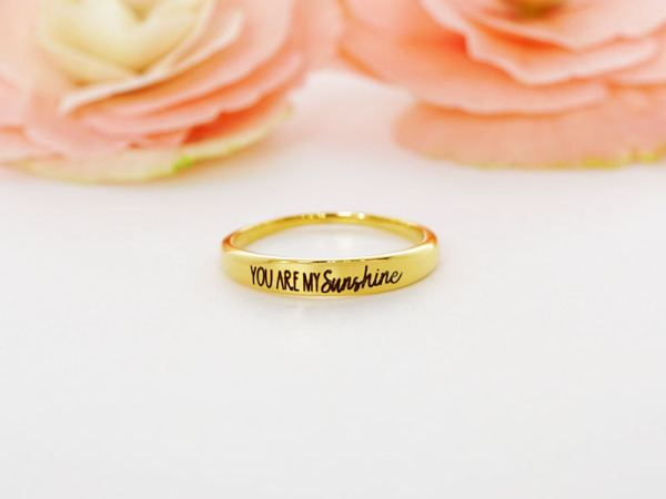"Stacker Ring - ""You are my sunshine"""
