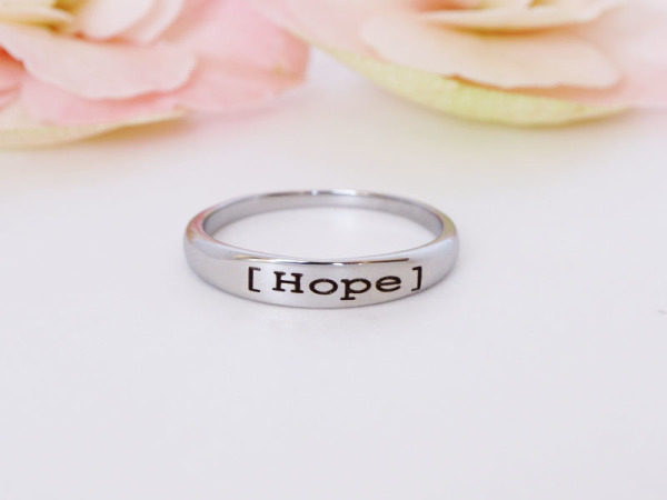 "Stacker Ring - ""Hope"""