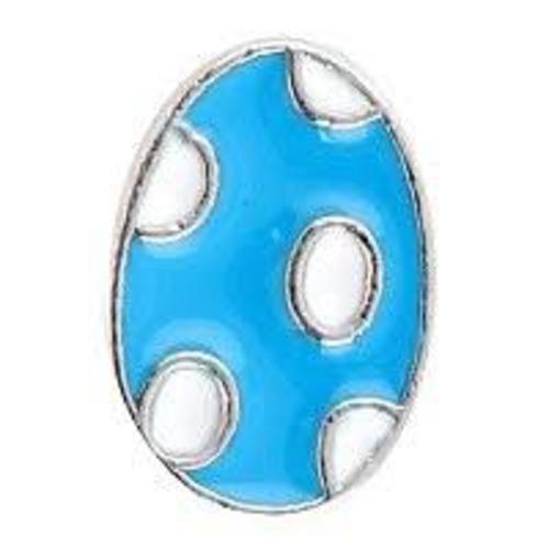 Blue & White Easter Egg
