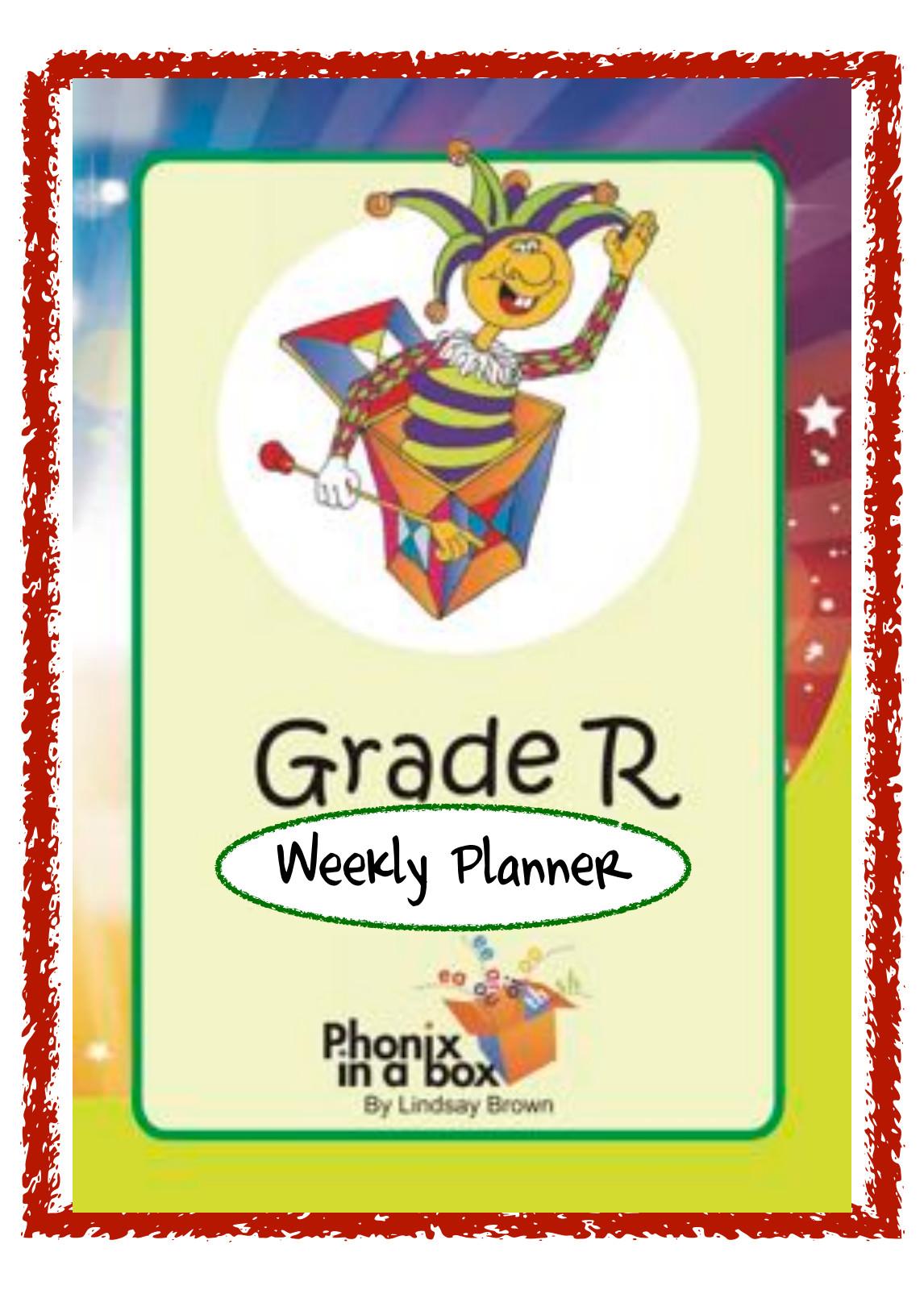 Grade R weekly planner