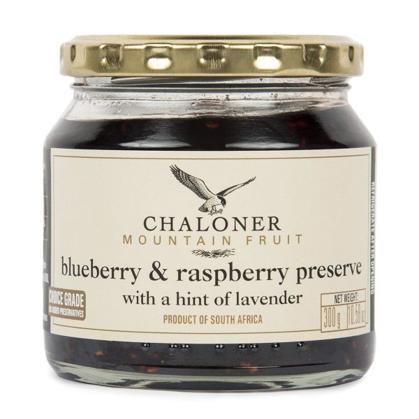 Chaloners Blueberry and Raspberry Preserve with a hint of lavender (300g)