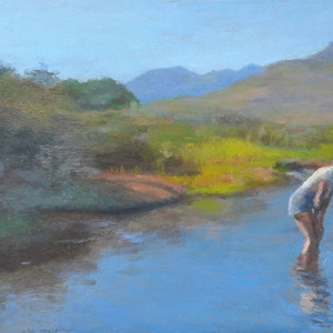 Julia in a Cederberg Mountain Stream'