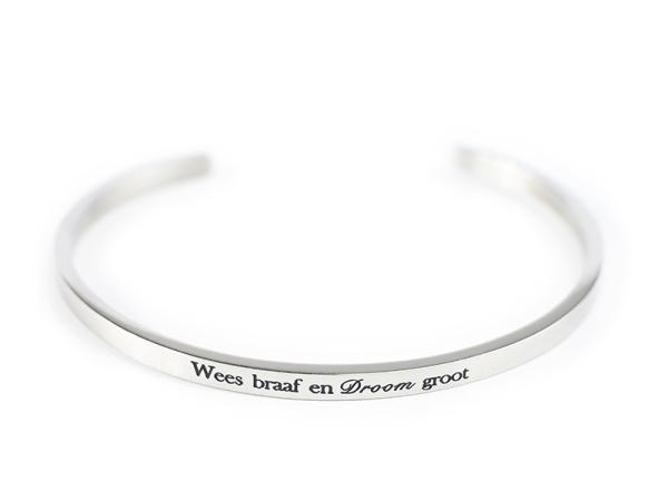 """Rooi Rose """"Wees Braaf"""" Bracelet"""