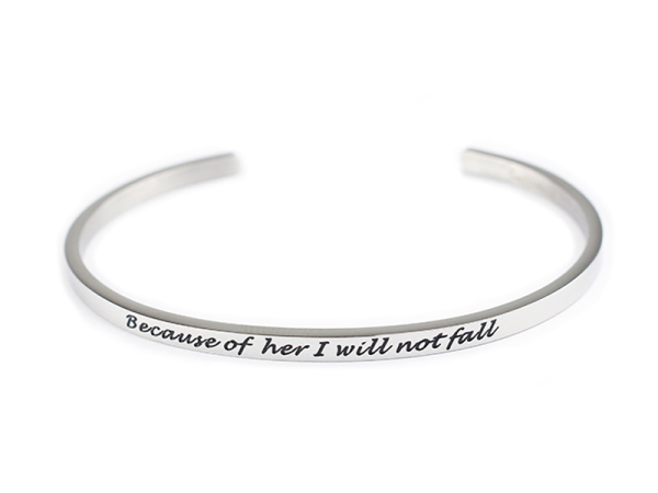 """Because of her"" Bracelet"