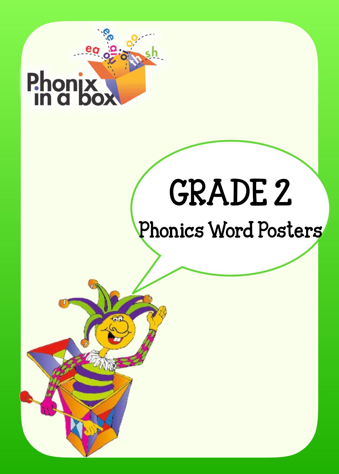 Grade 2 Phonics Word Posters