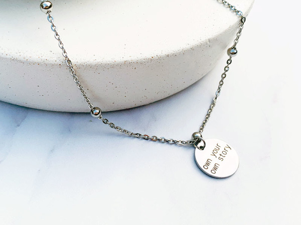 """Own your own story"" Ball Chain Petite Set"