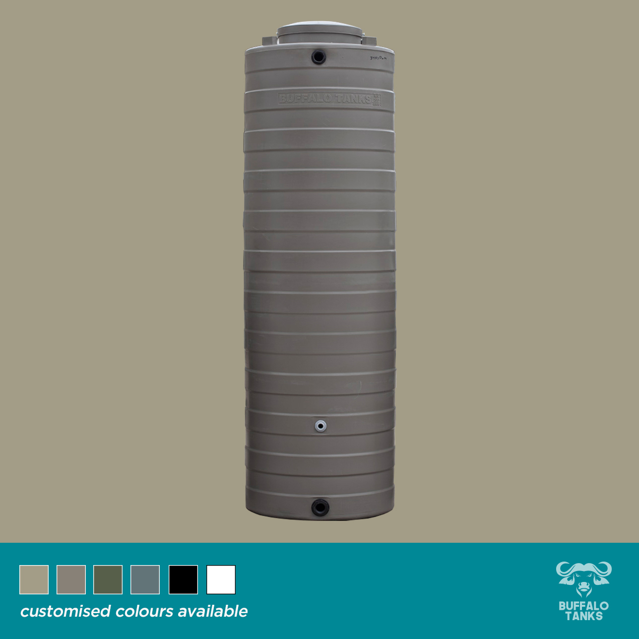 Buffalo Tanks Products -  1 000 L Slimline Water Tank
