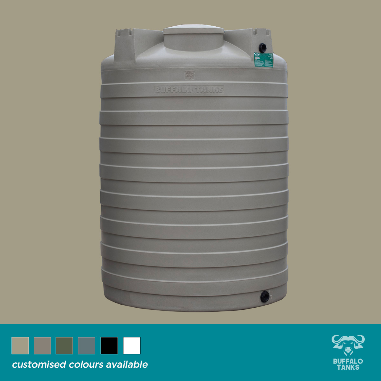 Buffalo Tanks Products -  2500 L Water Tank