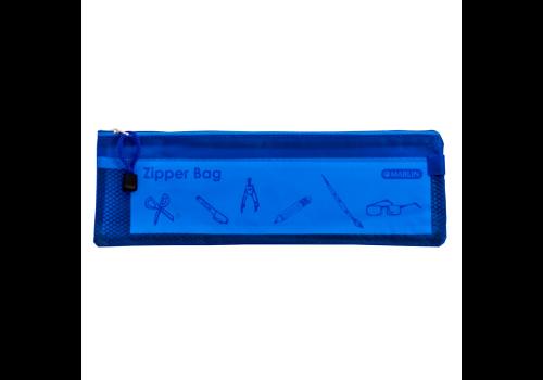 PENCIL BAG MARLIN PVC ZIPPER 34CM