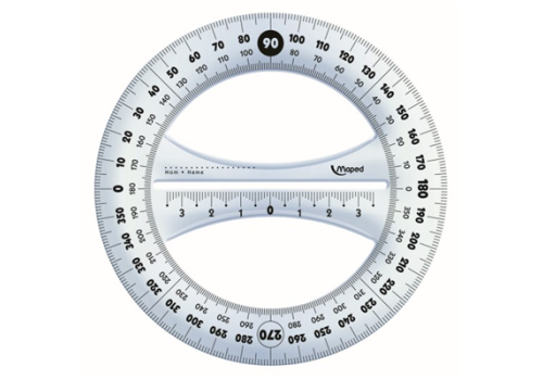 PROTRACTOR 12 CM 360 DEGREE GEO