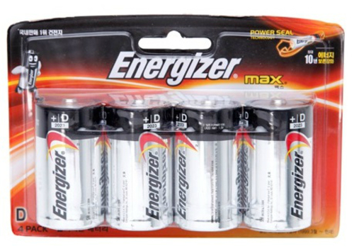 BATTERY D ENERGIZER MAX 4