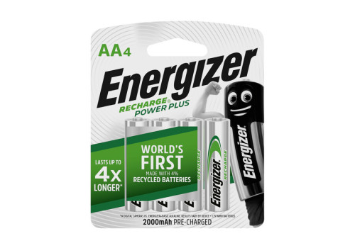 BATTERY AA ENERGIZER RECHARGE 4