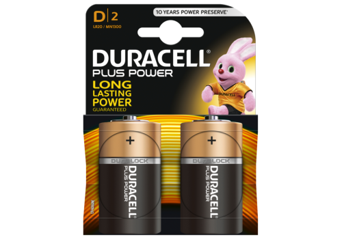BATTERY D DURACELL POWERPLUS 2
