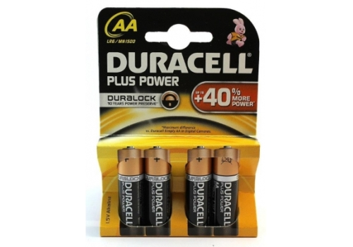 BATTERY AA DURACELL 4