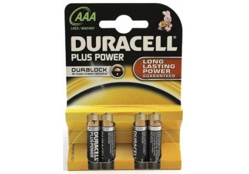 BATTERY AAA DURACELL POWERPLUS 4