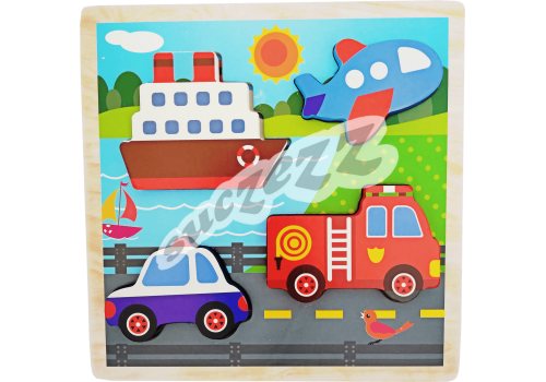 PUZZLE 4PC SUCZEZZ TRANSPORT BULKY