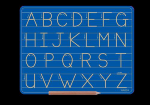 WRITERIGHT ABC ALT CAPITAL LINE BLUE