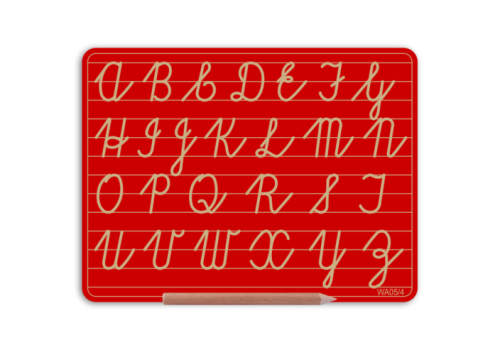 WRITERIGHT ABC CURSIVE CAPITAL RED